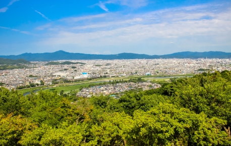 Kyoto city view from Monkey Park Iwatayama