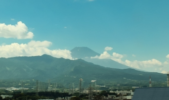 Mount Fuji seen from Tokaido Shinkansen